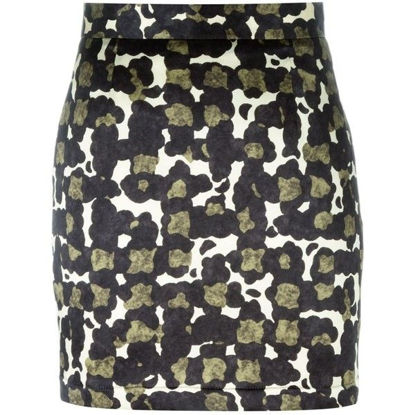 Dsquared2 camouflage print mini skirt ($455) ❤ liked on Polyvore featuring skirts, mini skirts, multicolor, multi color skirt, print mini skirt, short mini skirts, patterned mini skirt and short skirts