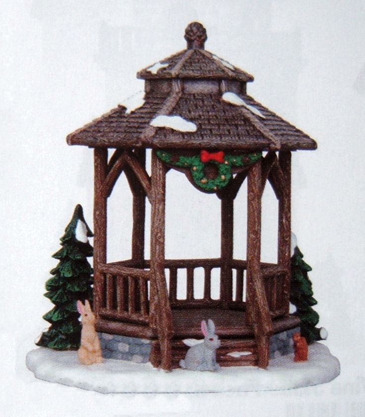 "This will be left shortly after we know that your item has reached you safely and that you are 100% satisfied. These are not new products and can have faults, wear or whatever. ""Winter Gazebo"". Lemax decoration (. ). 