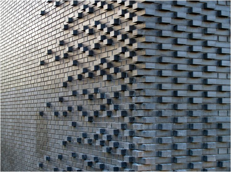Brick Pattern, Mark Koehler Architects Handmade tiles can be colour coordinated and customized re. shape, texture, pattern, etc. by ceramic design studios