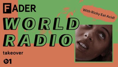 The FADER will be on Apple Music's Beats 1 radio every Saturday in October. Tune into our second episode on Saturday, October 22.