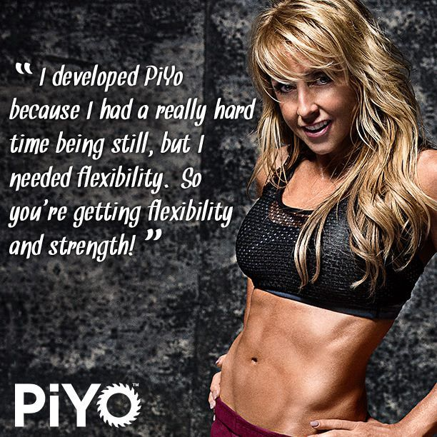 Chalene Johnson took the very best Pilates and yoga-inspired moves and cranked up the speed to give you full throttle cardio, strength, and flexibility training—all at once. PiYo packs it ALL into each workout so you can build lean muscle mass—as you're burning crazy calories. More info at http://soreyfitness.com/fitness/piyo-workout-chalene-johnson/