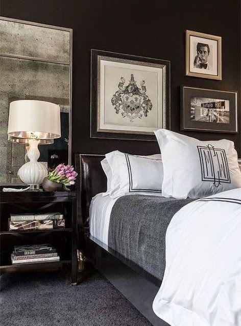 17 Best ideas about Dark Bedrooms – Dark Walls Bedroom