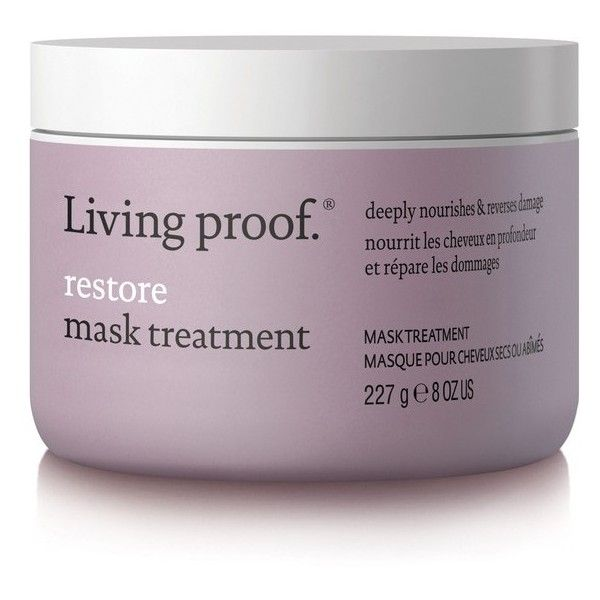 Women's Living Proof Restore Mask Treatment (2.485 RUB) ❤ liked on Polyvore featuring beauty products, haircare, hair conditioner, filler, no color, leave in hair conditioner, living proof haircare, moisturizing mask and living proof hair conditioner
