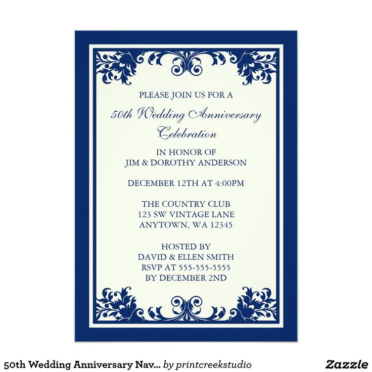 50 best Parties \ Celebrations images on Pinterest Invitation - fresh invitation samples for 50th wedding anniversary