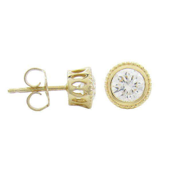 DIAMOND TESSA EARRINGS IN YELLOW GOLD   Penwarden Fine Jewellery - Jewelry - Jewelers Toronto Ontario GTA