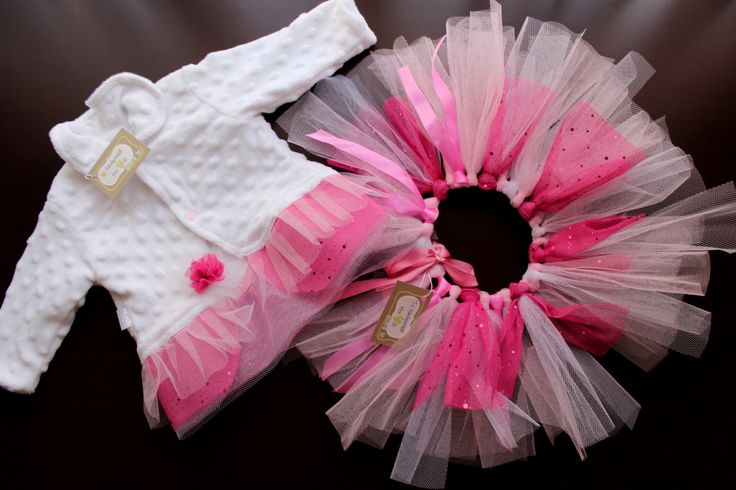 A pink and white tutu for the cutest little girl...