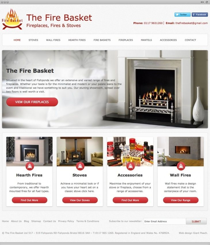 The Firebasket wanted an on-brand bespoke website design that would showcase their catalog of products and accessories.