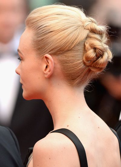Knotted up do - Carey Mulligan #cannes