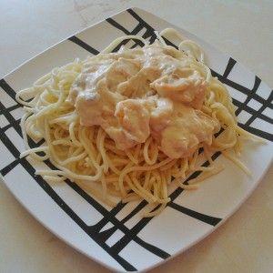 Спагетти в сливочном соусе с креветками рецепт – основные блюда. «Афиша-Еда»