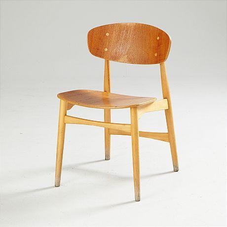 Stolar Ib Kofod-Larsen. Sex stolar slutpris 5600 kr på auktion i augusti 2014