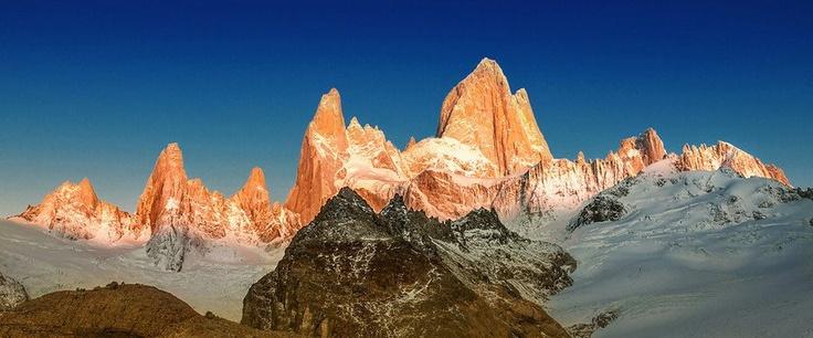 The Deep Blue Morning at Cerro Torre -- El Chalten -- Argentina -- HDR Photos