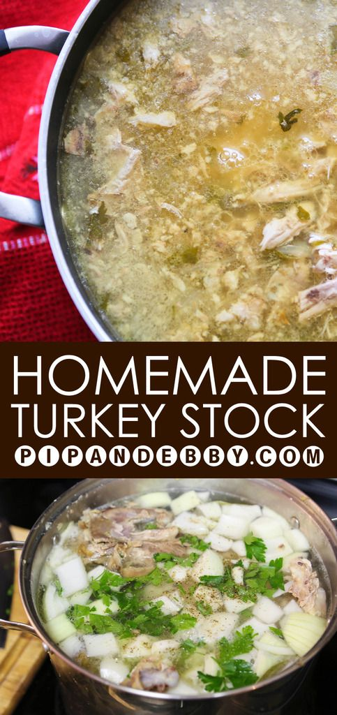 Homemade Turkey Stock | Making your own turkey stock is not only easy, but it makes THE MOST INCREDIBLE soup.