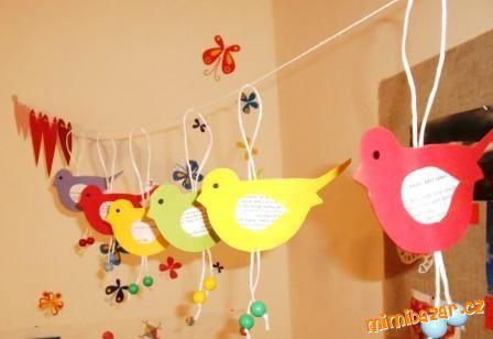 Ptáčci na zavěšení