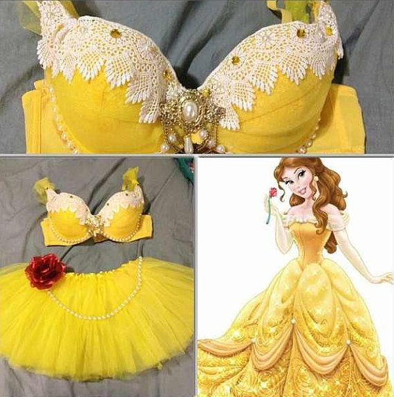 Princess Belle Inspired Rave Halloween costume on Etsy, $46.50