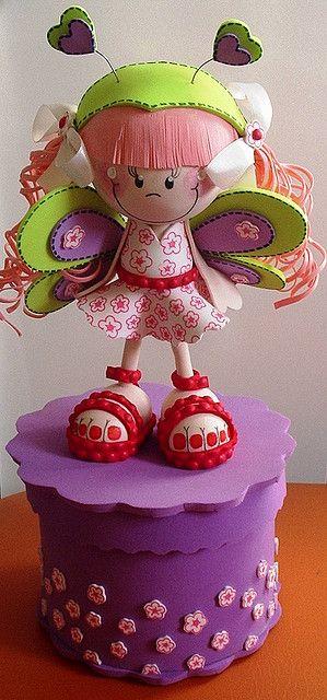 Fofucha borboleta de sandália by Maria Joaninha by Cidinha, via Flickr