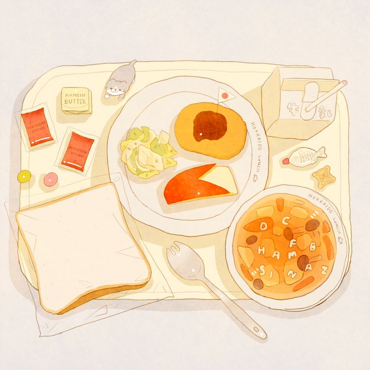 School lunch ~ hamsin illustration