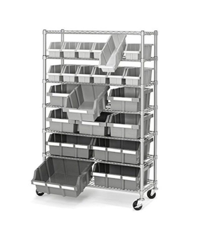 Enjoyable 6 Level Commercial Storage Shelving Unit Industrial Rack Download Free Architecture Designs Viewormadebymaigaardcom