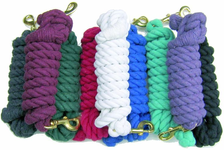"Thornhill Big Soft Cotton Lead Rope 3/4""X10' Navy"