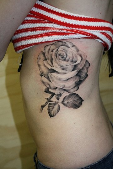 Tattoos by susi at armoured soul black and white rose for White rose tattoo