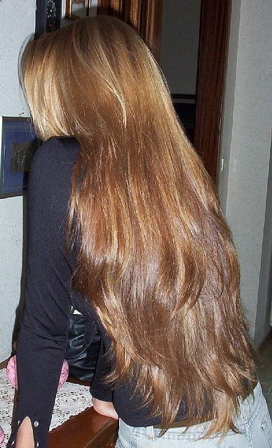 Girl with long, wavy hair.