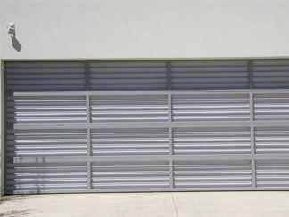 Barlite - Welded aluminium frame with horizontal bars and Perspex.