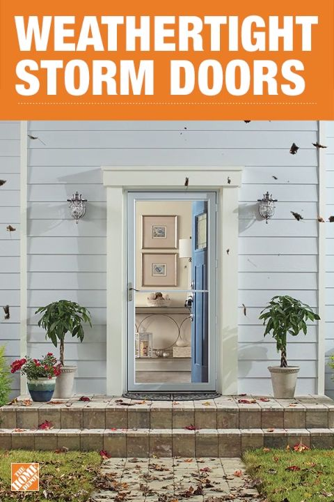 Keep your home dry in rainstorms and keep drafts out with an Andersen storm door. The Andersen 2500 Series Self-Storing Storm Door has weather stripping sealed on the top, bottom, and sides to help reduce drafts. Click to shop Andersen storm doors.