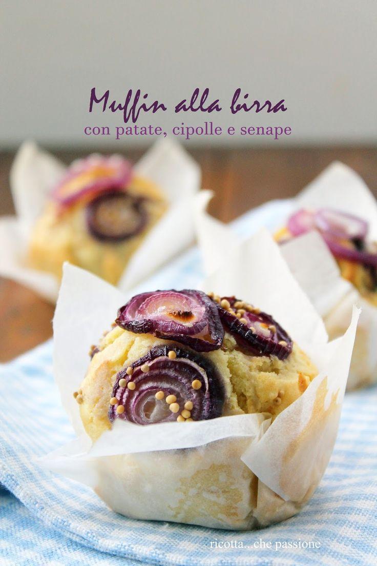 ricotta...che passione: Muffin alla birra con patate, cipolle e senape
