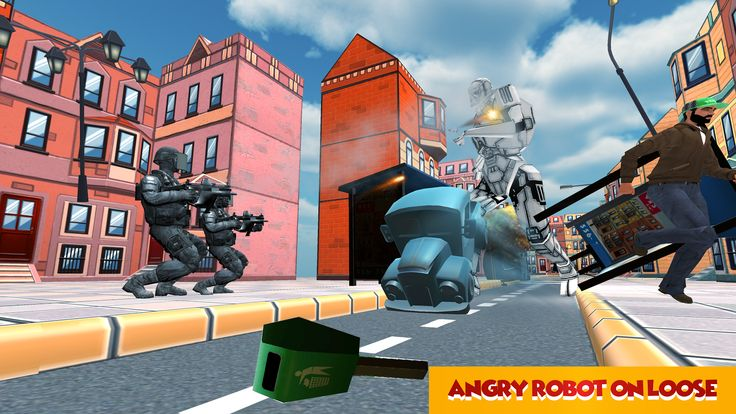 Futuristic Robot Hero Sim 3D- Liberate your race from human domination as killing machine