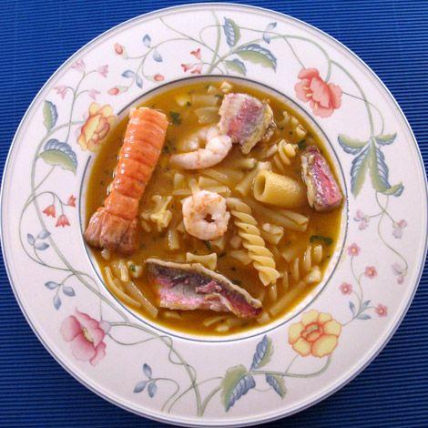 La minestra di pesce dello chef Gennaro Esposito