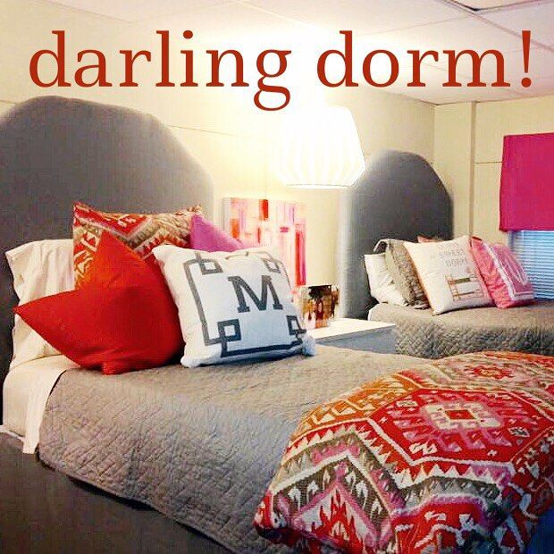 pretty and personalized! #dormroomdecor #hellobaylor #monogrammedpillow #meandredesign