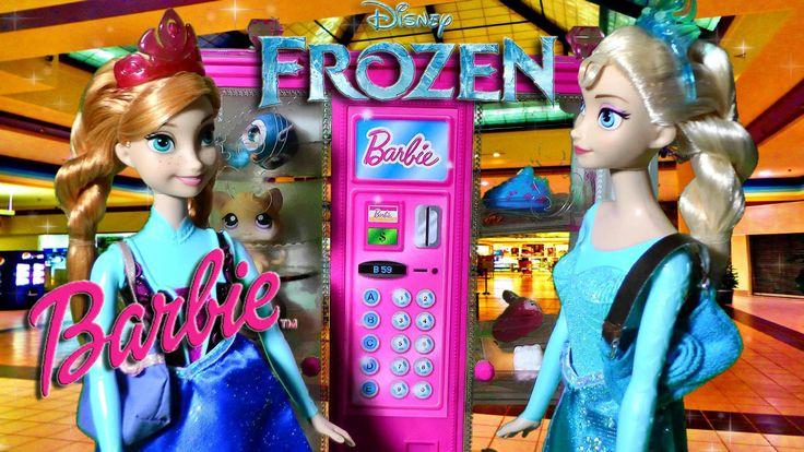 Disney Frozen Queen Elsa Anna Doll Shop Barbie Vending Machine Shopkins ...