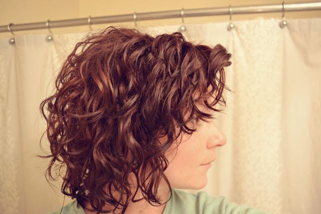 Mama Mandolin ~ Curly Hair Part 2:  How to properly scrunch and maintain wavy/curly hair.  (4 Total Pics)