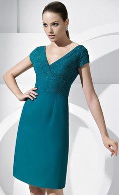 vestidos elegantes cortos para señoras - Buscar con Google                                                                                                                                                                                 Más