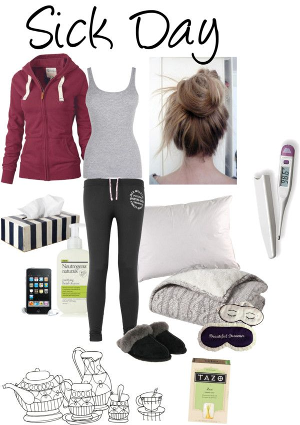 """""""Sick Day"""" by deceptive-romantic ❤ liked on Polyvore    this is what I wish my sick day looked like!!!"""