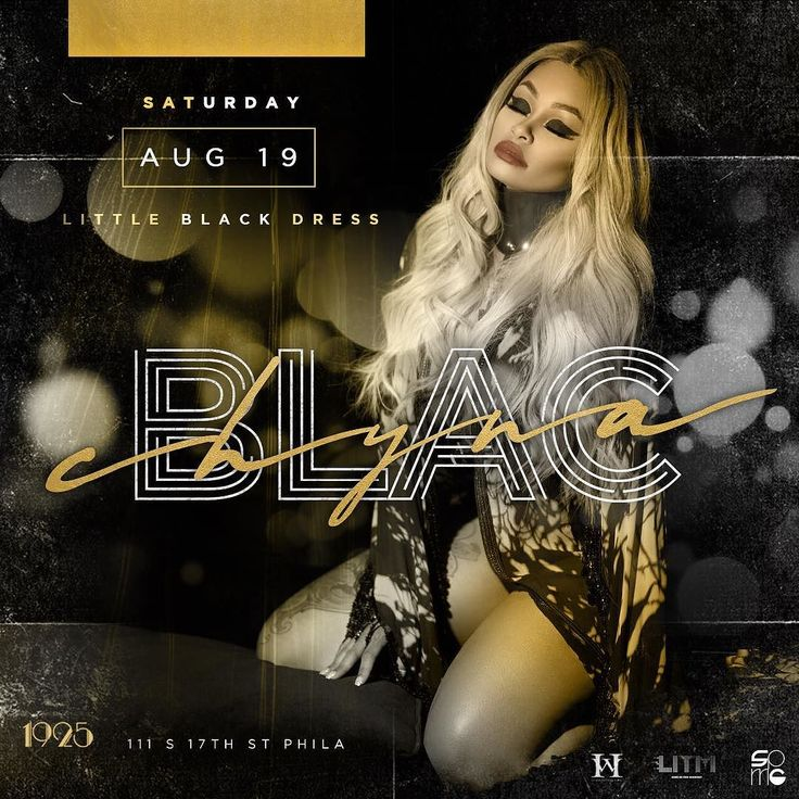 Purchase Ticket - starpoweredevents.com  Blac Chyna  Little Black Dress Event  Saturday August 19th we welcome E!s reality TV star @blacchyna to host an event for the ages.  You cant have the perfect Girls Night Out without your Little Black Dress. Its something every girl has in her closet! So pull out that LBD grab your girls and party with the gorgeous citizens of 1925. Join us as we step into a new realm of nightlife where we boldly dare you to unlearn what you have learned about…