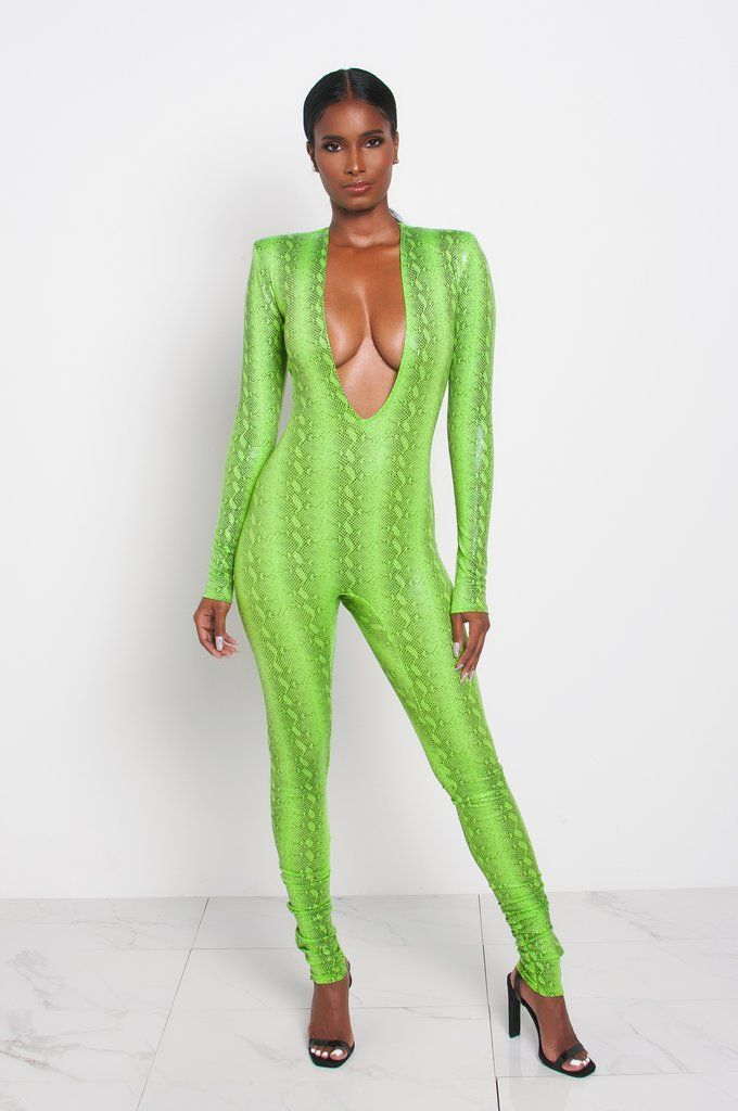 1d92deded5e73 LIME GREEN VENOM JUMPSUIT Kloset Envy exclusive Chroma Skin Collection www. klosetenvy.com
