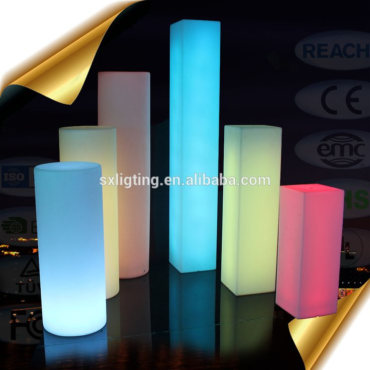 Outdoor Christmas Deco Lighting square column Illuminate Outdoor Decorations with color changing