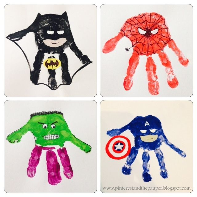 Super Hero Handprints!!!