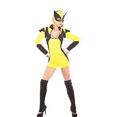 X-Men+Wolverine+Yellow+Super+Women+Costume+–+USD+$+39.99