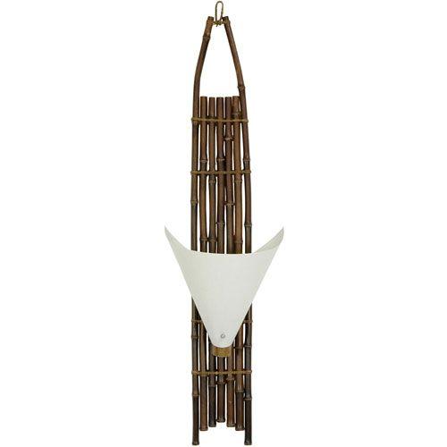 39-inch Baku Japanese Bamboo Wall Sconce - Dark