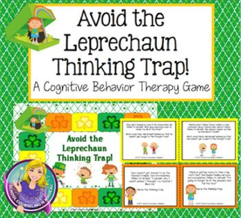 Avoid the Leprechaun Thinking Trap board game is a fun and engaging way for kids to review thought traps (cognitive distortions). Thinking traps are certain negative patterns of thoughts that can trap both kids and adults into anger, depression, or anxiety.