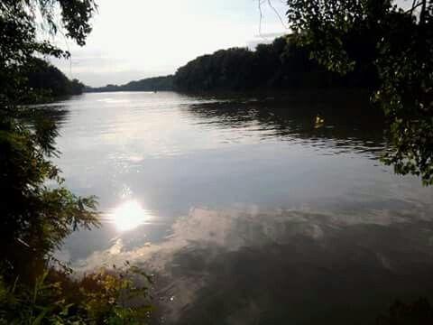 Tiszameer in Hongarije.