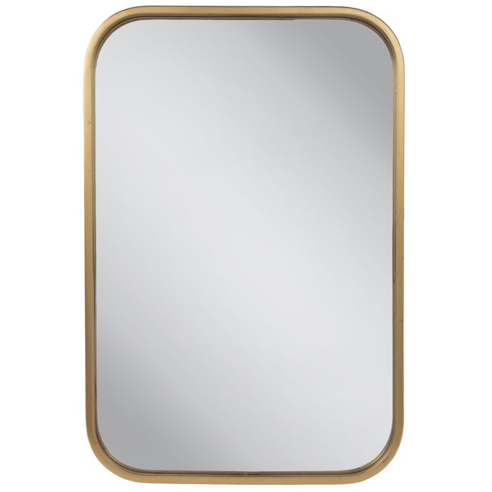 Gold Rounded Rectangle Metal Wall Mirror Rounded Rectangle