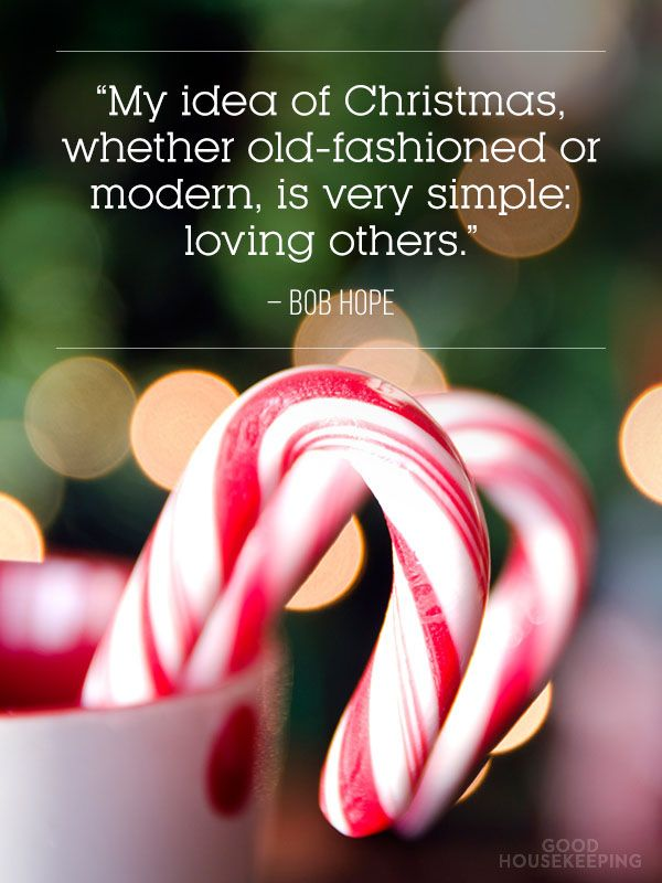 """My idea of #Christmas whether old-fashioned or modern, is very simple: loving others."" -Bob Hope:"