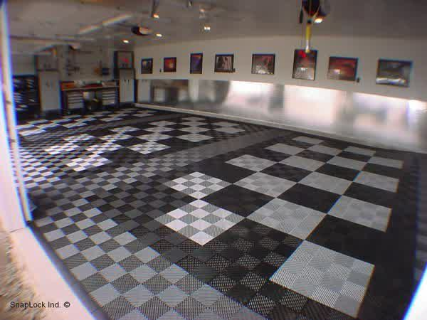 Black White Garage Floor