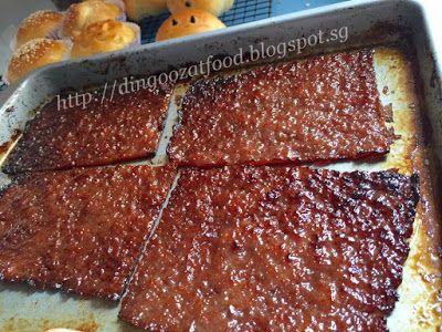 Miki's Food Archives : Homemade Pork Jerky (Bak Kwa) 自制猪肉干