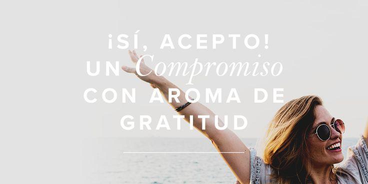 ¡Si, acepto!: Un compromiso con aroma a gratitud. | Mujer Verdadera Blog | Aviva Nuestros Corazones