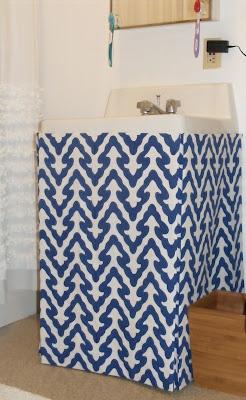 No Sew Sink Skirt On Our Blog