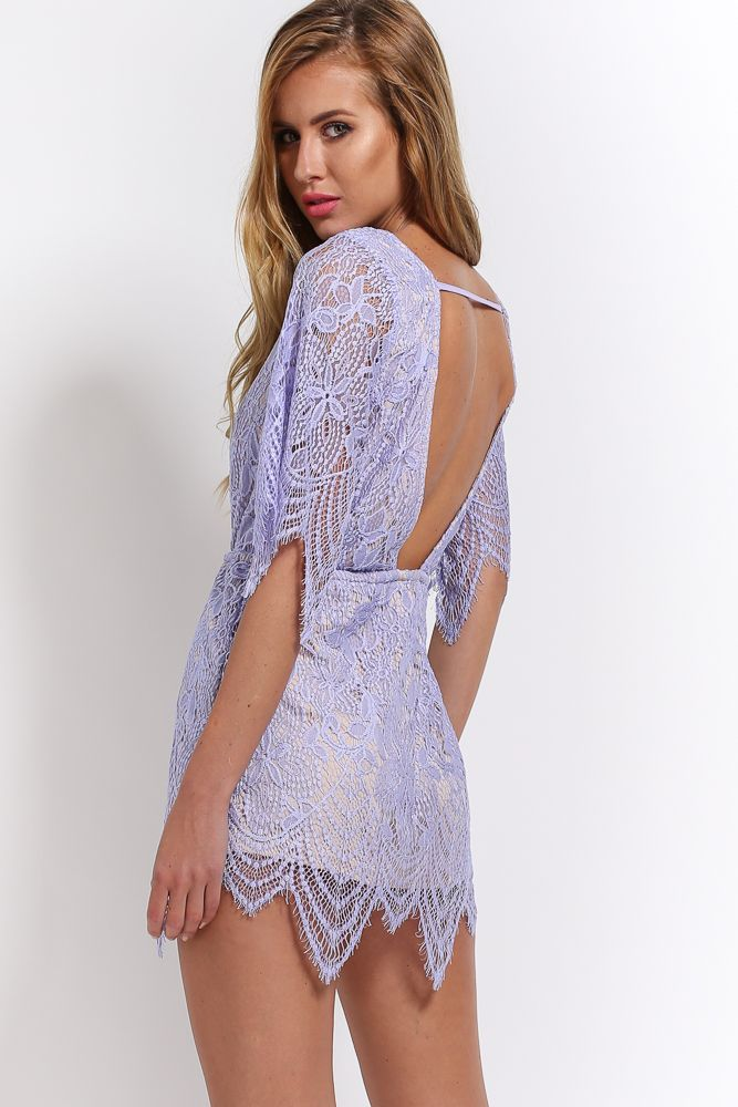 Edge Of The Evening Playsuit, Lilac, $65 + Free express shipping http://www.hellomollyfashion.com/edge-of-the-evening-playsuit-lilac.html