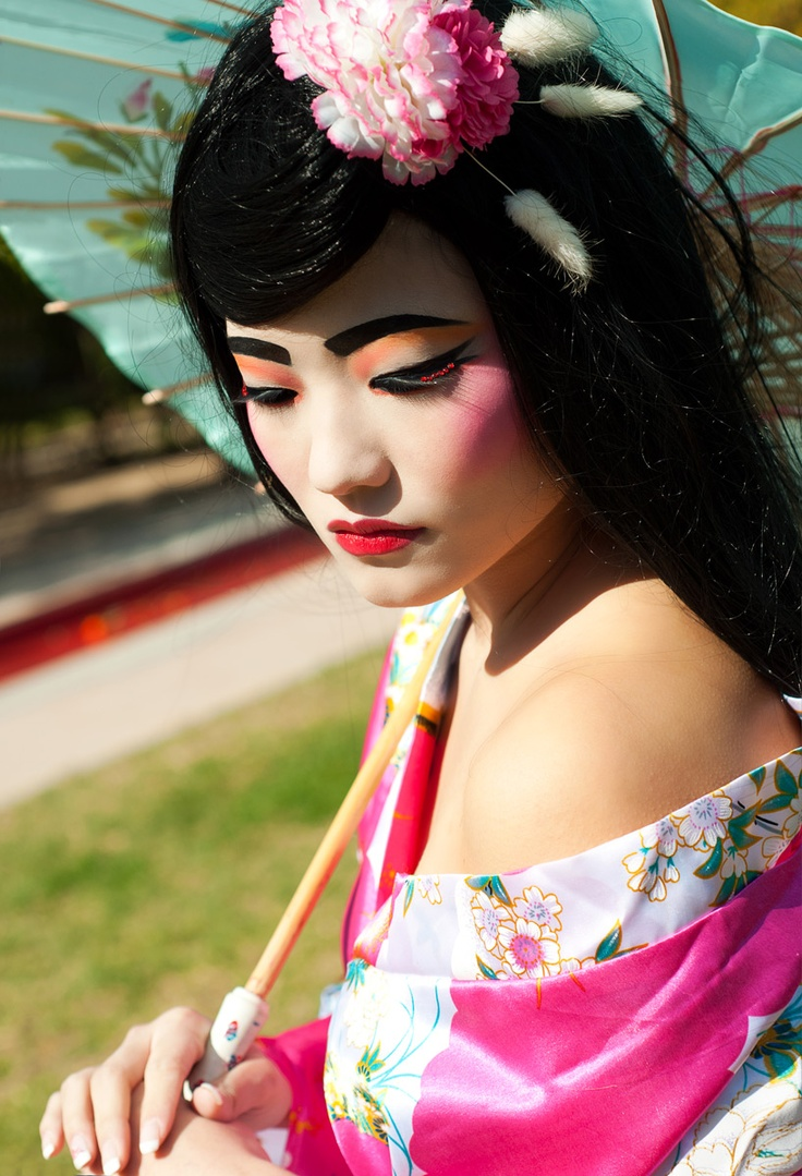 maquillaje de geisha geishas pinterest. Black Bedroom Furniture Sets. Home Design Ideas